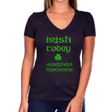 Irish Today Hungover Tomorrow Glitter Shirt