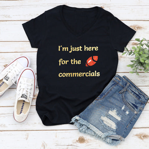 Here For the Commercials Glitter Shirt