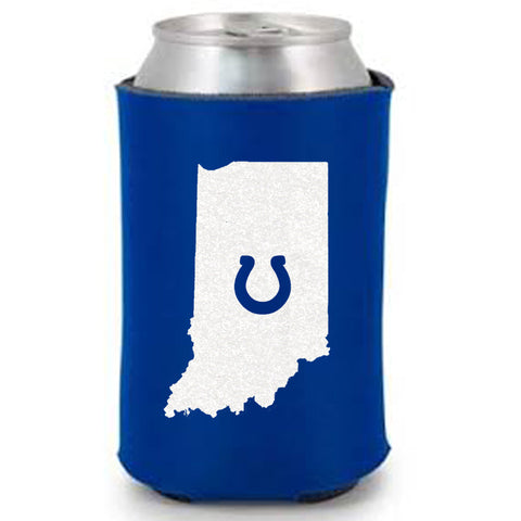 Indiana with Horseshoe Can Cooler