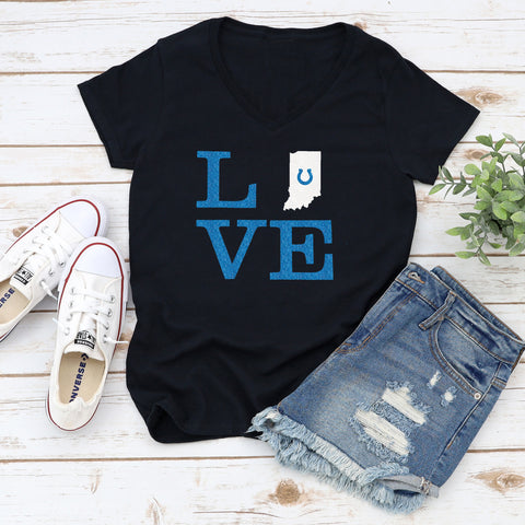 Love with Indiana Glitter Shirt