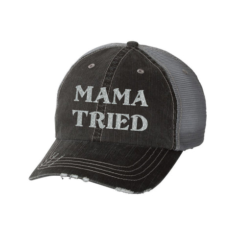 Mama Tried Distressed Ladies Trucker Hat