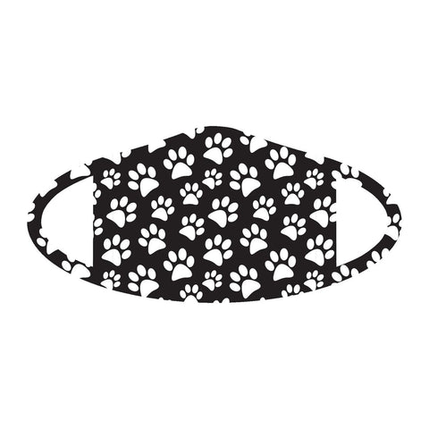 Fashionable Paw Print Face Mask