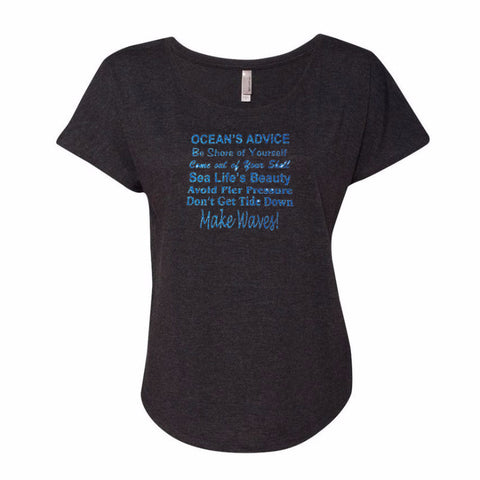 Ocean's Advice Dolman Glitter Shirt