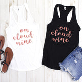 On Cloud Wine Glitter Tank Top