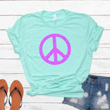 Peace Sign Glitter Shirt