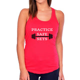 Practice Safe Sets Workout Tank Top