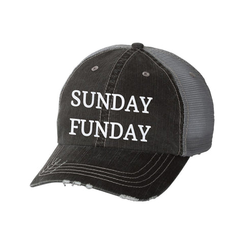 Sunday Funday Distressed Ladies Trucker Hat