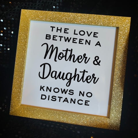 Mother from Daughter Keepsake Gold Glitter Frame