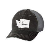 State Love Distressed Ladies Trucker Hat