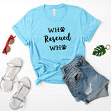 Who Rescued Who Glitter Shirt