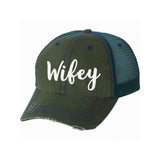 Wifey Distressed Ladies Trucker Hat