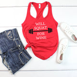 Will Squat for Wine Tank Top