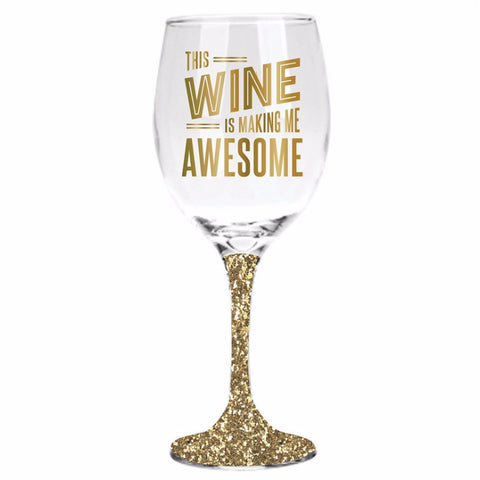 Awesome Glitter Wine Glass