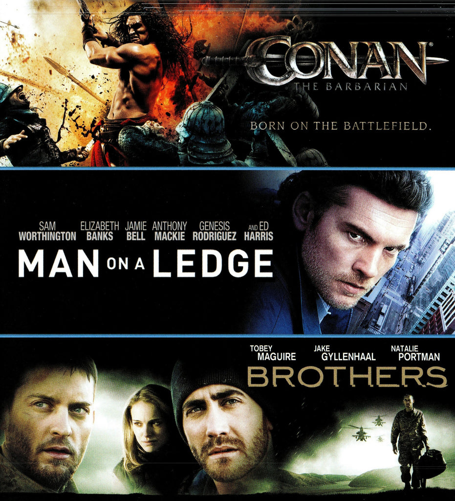 Conan The Barbarian/Man on a Ledge/Brothers HDX VUDU - Digital Movies