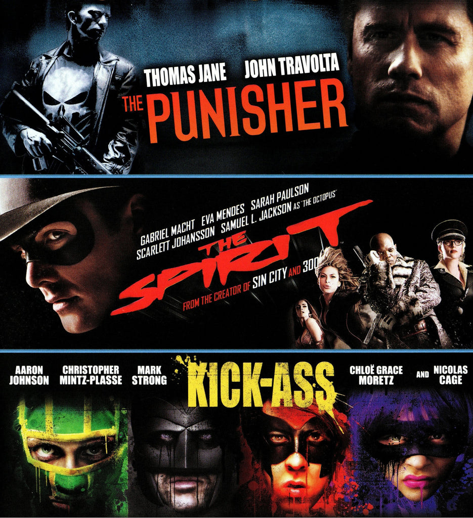 Punisher/Spirit/Kick-Ass HDX VUDU - Digital Movies