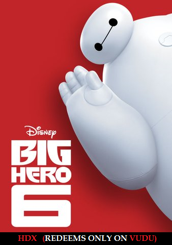 Big Hero 6 HDX VUDU only - Digital Movies