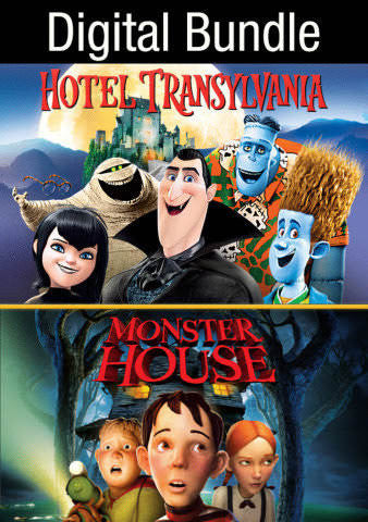 Hotel Transylvania (w/Bonus Features) & Monster House SD UV - Digital Movies