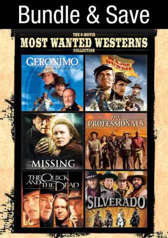 6-Movie Most Wanted Westerns Collection SD UV