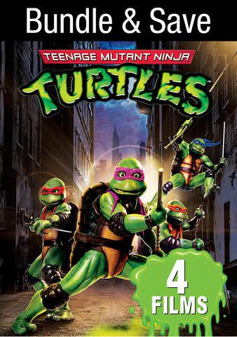 4 Film Favorites: Teenage Mutant Ninja Turtles SD VUDU or iTunes via MA
