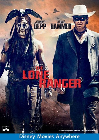 Lone Ranger HDX Vudu, DMA, or iTunes - Digital Movies