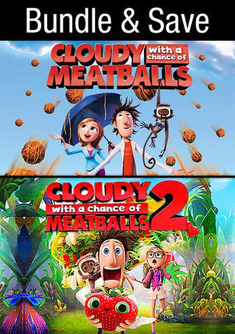 Cloudy With a Chance of Meatballs 1 & 2 SD UV - Digital Movies