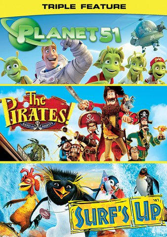 Planet 51, Pirates: Band of Misfits, Surf's Up SD Vudu