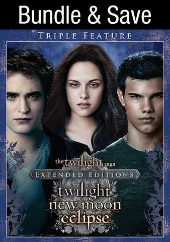 Twilight Saga Triple Pack HDX UV/Vudu - Digital Movies