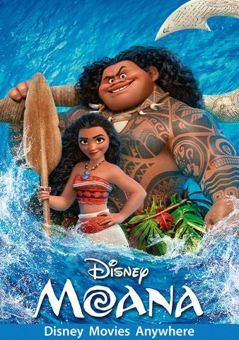 Moana HDX Vudu, DMA, iTunes, or Google Play