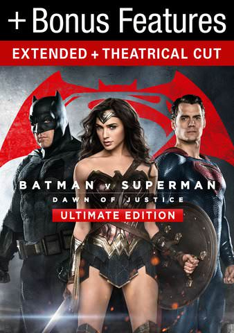 Batman vs Superman: Dawn of Justice Ultimate Edition (Theactical & Extended) HDX VUDU or itunes via MA