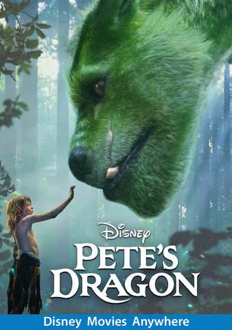 Pete's Dragon HDX Vudu, DMA, iTunes, or Google Play - Digital Movies