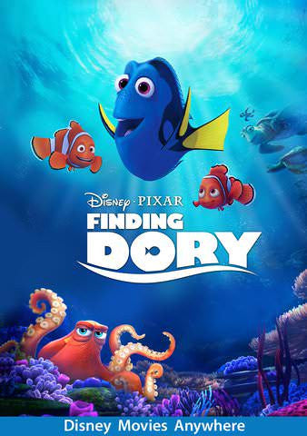 Finding Dory HDX Vudu, MA, iTunes, or Google Play