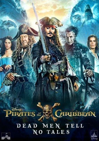 Pirates Of The Caribbean Dead Men Tell No Tales  HDX Vudu, MA, iTunes, or Google Play