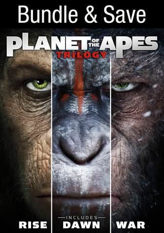 Planet of the Apes Trilogy HDX VUDU IW (Will Transfer to MA & iTunes)