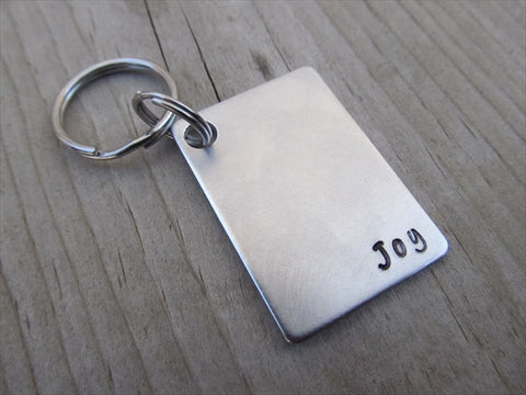 "Joy Inspirational Keychain- ""Joy""  - Hand Stamped Metal Keychain"