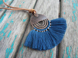 Fringe Necklace in Blue