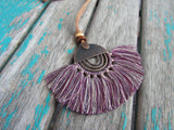 Fringe Necklace in Multi-Purples