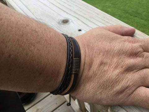 Men's Leather Bracelet- Unisex Bracelet-M2