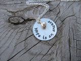 "Hope Is An Anchor Inspiration Necklace- ""Hope is an anchor"" - Hand-Stamped Necklace with an accent bead in your choice of colors"