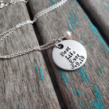 "Best Life Ever Necklace ""Best Life Ever"" with a date and accent bead of your choice"