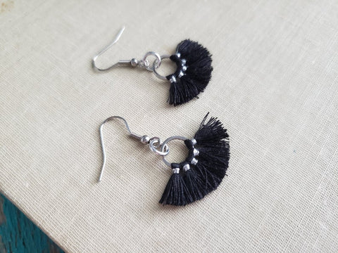 Black Fringe/Tassel Earrings