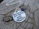 "Grandmother's Necklace- ""Grandmas are Moms with extra frosting""  - Hand-Stamped Necklace with an accent bead of your choice"