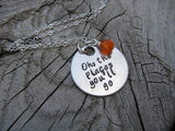 "Graduation Necklace- ""Oh, the places you'll go"" - Hand-Stamped Necklace with an accent bead in your choice of colors"