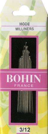 Bohin Milliners/Straw Needles Assorted Sz. 3-12