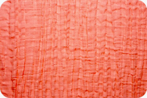 Shannon Fabrics Embrace Double Gauze - Coral Solid