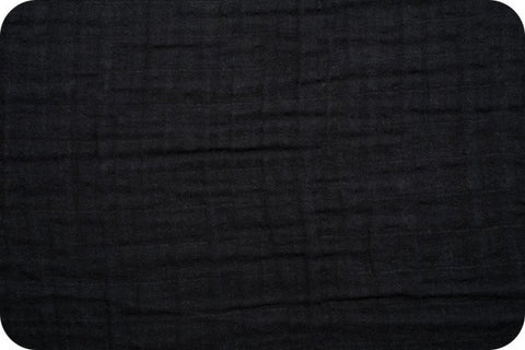 Shannon Fabrics Embrace Double Gauze - Black Solid