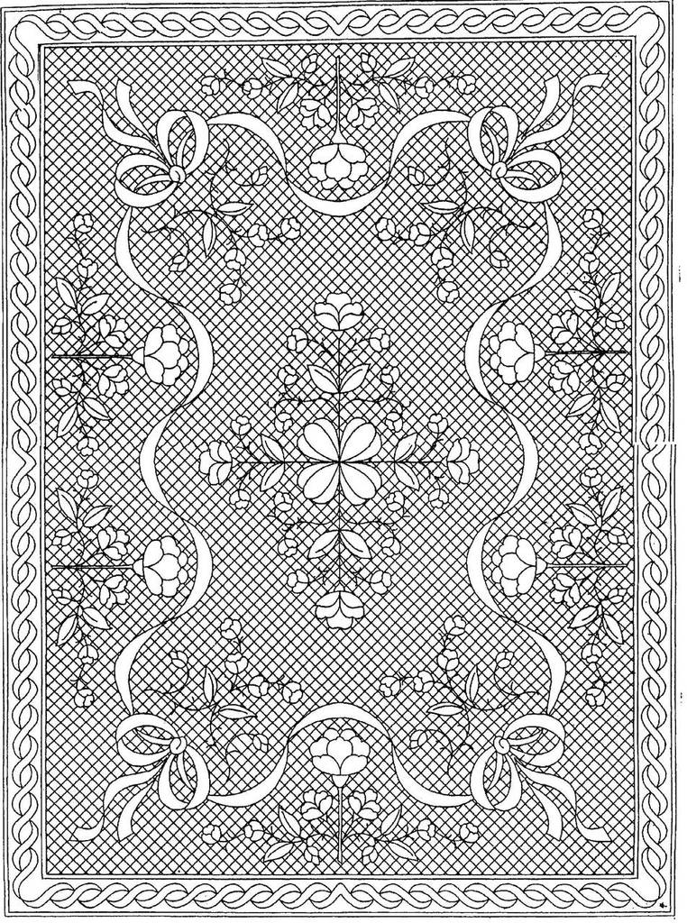 "Floral Fantasy Premarked Wholecloth Crib Quilt Kit - White – 40""x54"""