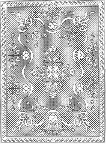 "Floral Fantasy Premarked Wholecloth Crib Quilt Kit - White - 40""x54"""