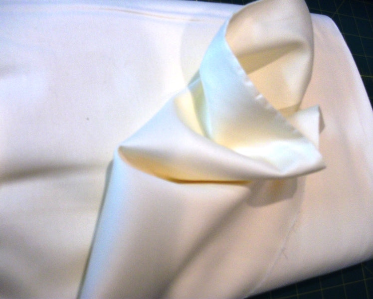 "Wide Sateen - White - 118"" wide"