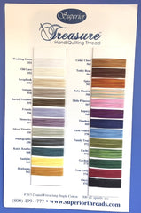 Superior Thread's Treasure Hand Quilting Thread 300 yd spools, several colors