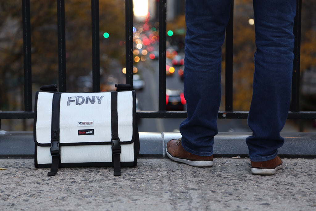 FDNY Fire Hose Messenger Bag - Reheroed